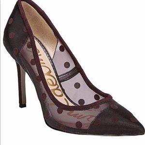 Sam Edelman Womens Hazel Deep Burgundy Dotted